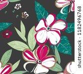 abstract flower seamless... | Shutterstock .eps vector #1182496768