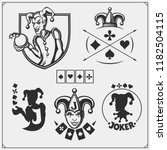 set of casino and poker emblems ... | Shutterstock .eps vector #1182504115