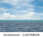 blue sky with clouds and sea | Shutterstock . vector #1182508048