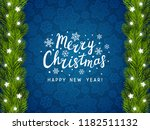 greeting card with christmas... | Shutterstock .eps vector #1182511132