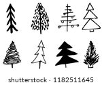 doodle hand drawn christmas... | Shutterstock .eps vector #1182511645