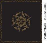 abstract bandana peacock gold...   Shutterstock .eps vector #1182512308