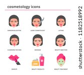 cosmetology icons set flat style | Shutterstock .eps vector #1182518992