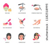 beauty and cosmetology vector... | Shutterstock .eps vector #1182518995