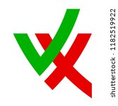 yes and no logo on a white... | Shutterstock .eps vector #1182519922