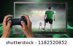 digital composite of hands... | Shutterstock . vector #1182520852