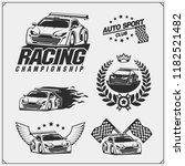 set of racing club emblems ... | Shutterstock .eps vector #1182521482