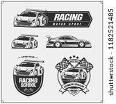 set of racing club emblems ... | Shutterstock .eps vector #1182521485