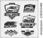 set of racing club emblems ... | Shutterstock .eps vector #1182521488