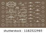 vector set of calligraphic...   Shutterstock .eps vector #1182522985