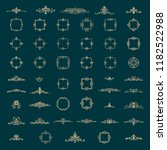 retro rosette and victorian...   Shutterstock .eps vector #1182522988