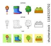 vector design of farm and... | Shutterstock .eps vector #1182523702
