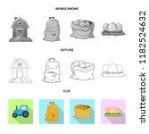 vector design of farm and... | Shutterstock .eps vector #1182524632