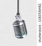 metal shining microphone vector ... | Shutterstock .eps vector #1182530482