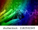 various type of financial and... | Shutterstock . vector #1182532345