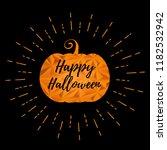 halloween greeting with orange... | Shutterstock .eps vector #1182532942