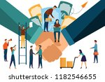 two confident business hands... | Shutterstock .eps vector #1182546655