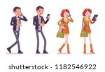 young man and woman. caucasian... | Shutterstock .eps vector #1182546922