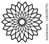 Outline Mandala. Ornamental...