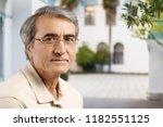 senior business man in grey... | Shutterstock . vector #1182551125