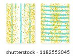 gold glitter sequins with dots. ... | Shutterstock .eps vector #1182553045