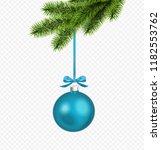 vector blue christmas... | Shutterstock .eps vector #1182553762