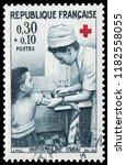 paris  france   dec. 10  1966 ... | Shutterstock . vector #1182558055