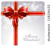 christmas greeting card with... | Shutterstock .eps vector #118256152