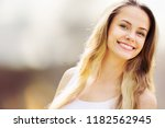 beautiful woman with a whiten... | Shutterstock . vector #1182562945