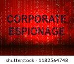 corporate espionage covert... | Shutterstock . vector #1182564748