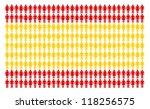 spanish flag built by many... | Shutterstock . vector #118256575