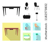isolated object of furniture... | Shutterstock .eps vector #1182573832