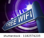 free wifi anywhere wireless... | Shutterstock . vector #1182576235