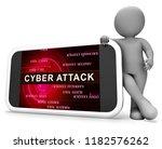 hacker cyberattack malicious... | Shutterstock . vector #1182576262