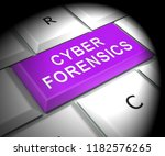 cyber forensics computer crime... | Shutterstock . vector #1182576265