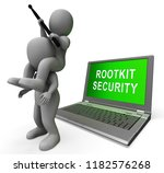 rootkit security data hacking... | Shutterstock . vector #1182576268