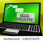 email etiquette electronic... | Shutterstock . vector #1182576295