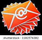 email overload spam... | Shutterstock . vector #1182576382