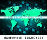 cybersecurity education... | Shutterstock . vector #1182576385