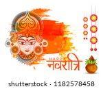illustration of happy navratri...   Shutterstock .eps vector #1182578458