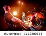 band performs on stage  rock... | Shutterstock . vector #1182580885
