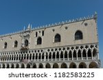 doge's palace  palazzo ducale ... | Shutterstock . vector #1182583225
