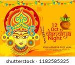 illustration of garba festival... | Shutterstock .eps vector #1182585325