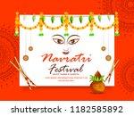 illustration of garba festival... | Shutterstock .eps vector #1182585892