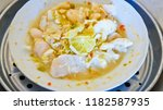 stewed dolly fish with lemon | Shutterstock . vector #1182587935