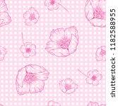 trendy seamless flower pattern. ... | Shutterstock .eps vector #1182588955