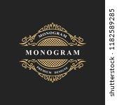 monogram design elements ... | Shutterstock .eps vector #1182589285