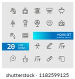 home icons. set of  line icons. ... | Shutterstock .eps vector #1182599125