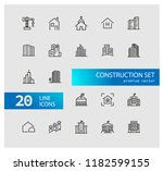 construction icons. set of ... | Shutterstock .eps vector #1182599155
