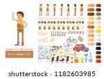 vector young adult man in...   Shutterstock .eps vector #1182603985